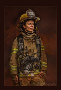 Firefighter Candid Photo by Photographer JamesStaffordPhotography