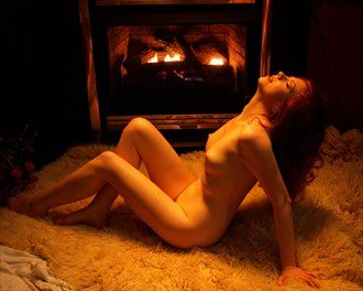 Firelit Nude Augusta Artistic Nude Photo by Photographer Fred Scholpp Photo