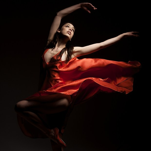 Flaming Kayleigh Chiaroscuro Photo by Photographer Randall Hobbet