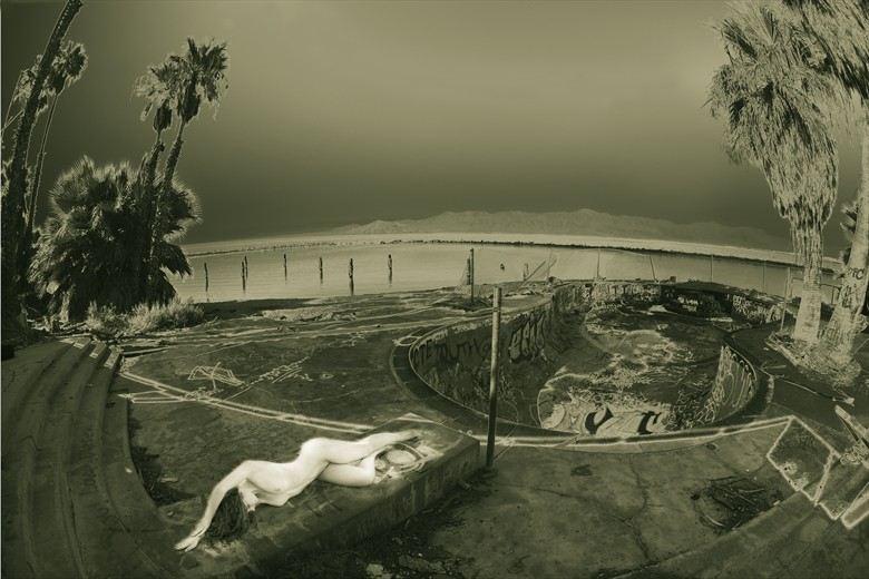 Flash Back: Ivory Flame at the Salton Sea Artistic Nude Photo by Photographer Mark Bigelow