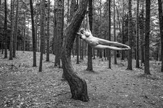 Flight Artistic Nude Photo by Model Mila