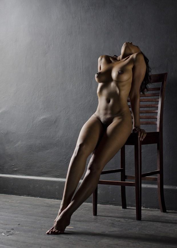 Flourish Chair Artistic Nude Artwork by Photographer Alan H Bruce