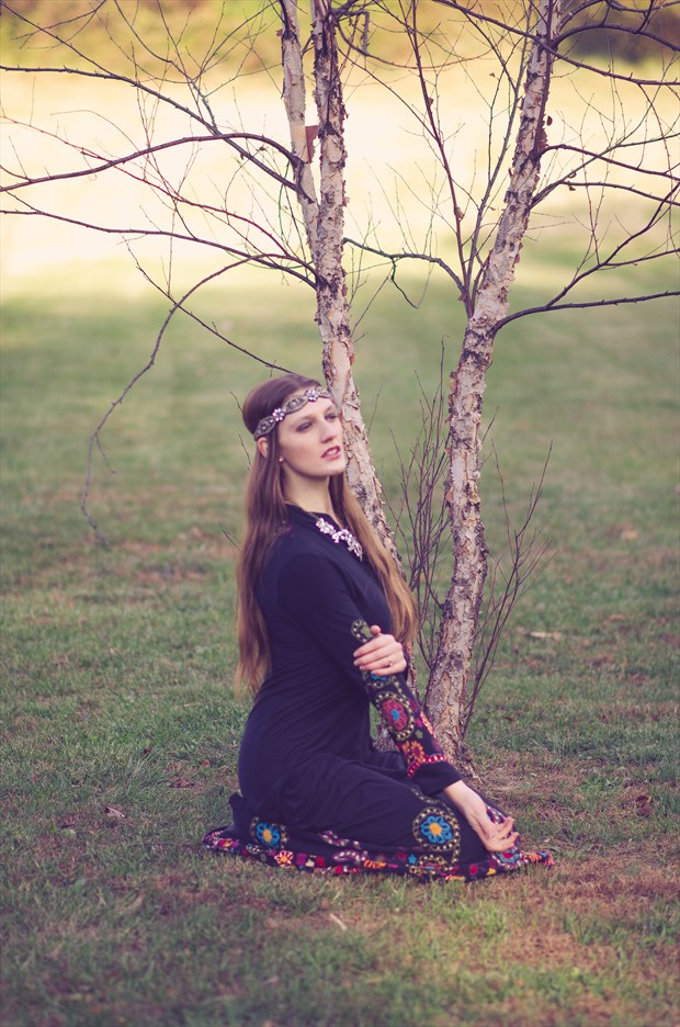 Flower Child  Nature Photo by Model Satine Lynn