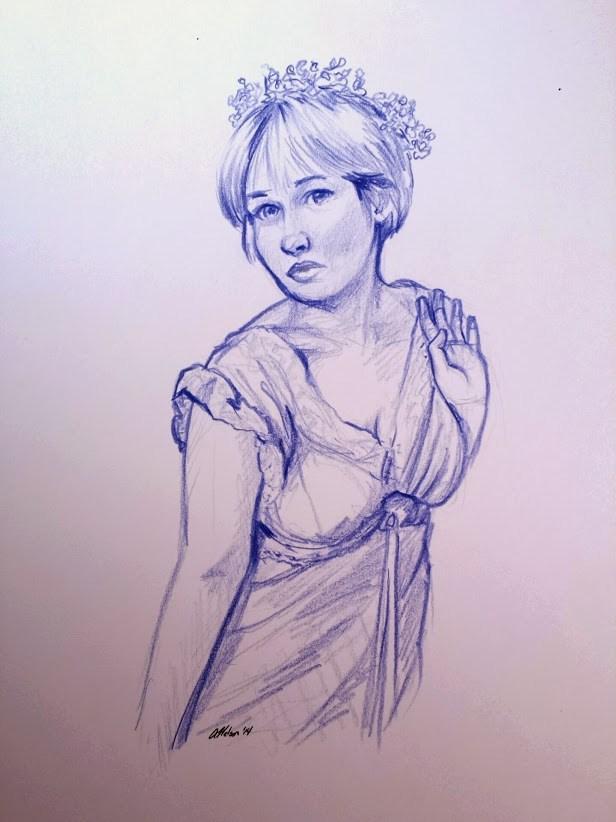 Flower Maiden Figure Study Artwork by Artist AnthonyNelsonArt