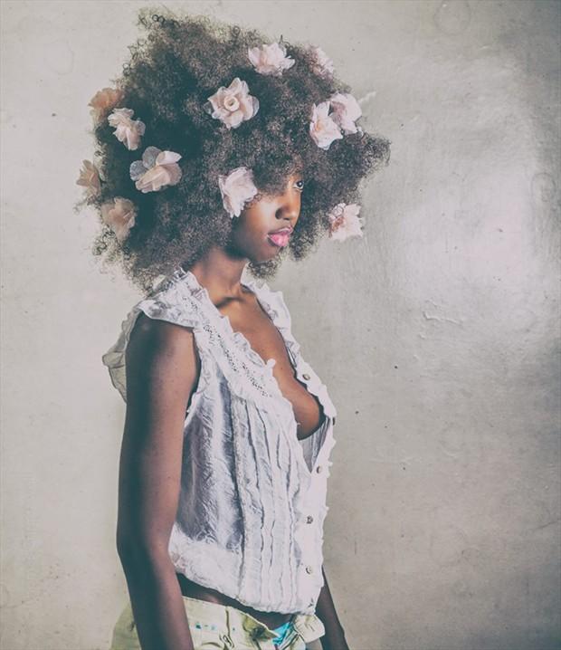 Flower girl Fashion Artwork by Model Nyasia Sylvester