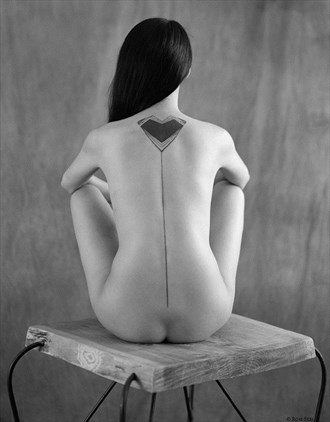 Flower on Pedestal Artistic Nude Photo by Photographer Ron Skei (RonChez)