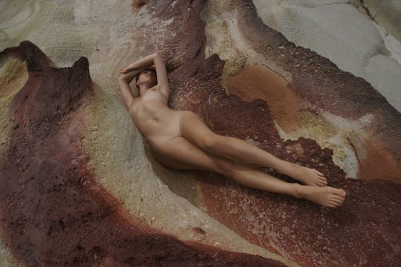 Flowing with the rock Artistic Nude Photo by Model Mod%C3%A8le Christelle