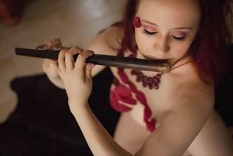 Flute Goddess   Ashley Indigo Fantasy Photo by Model Ashley Indigo