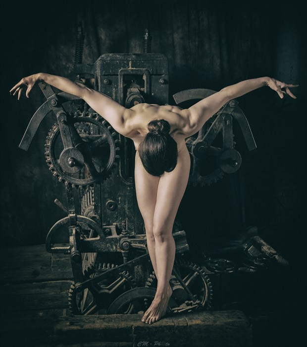 Flying Machine Artistic Nude Artwork by Photographer CM Photo