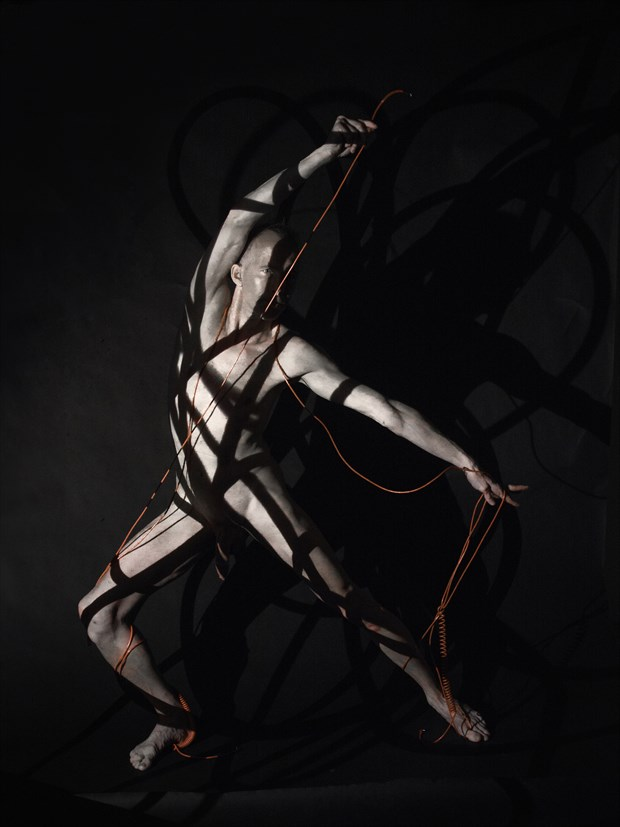 Follow the red cord Artistic Nude Photo by Model Lars