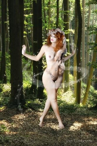 Forest Faerie Artistic Nude Artwork by Artist Leo J Arbeznik