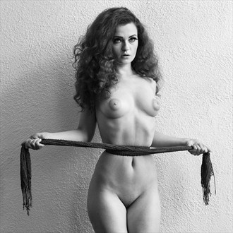 FoxyCherry with scarf Artistic Nude Photo by Photographer Mike Brown