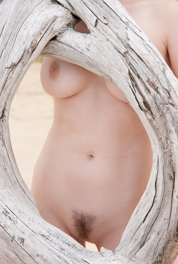 Framed Artistic Nude Photo by Model Mila