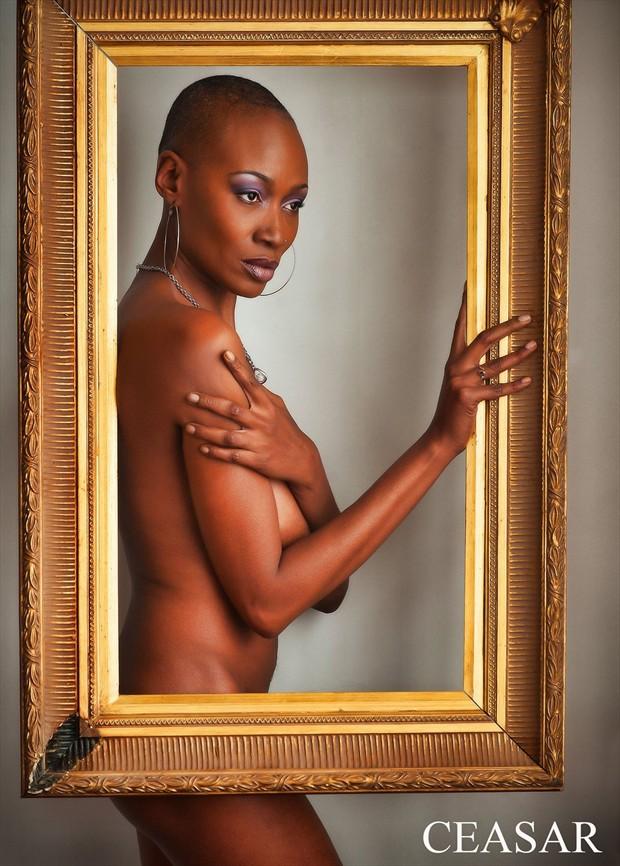 Framed Glamour Photo by Model Crimson Reign
