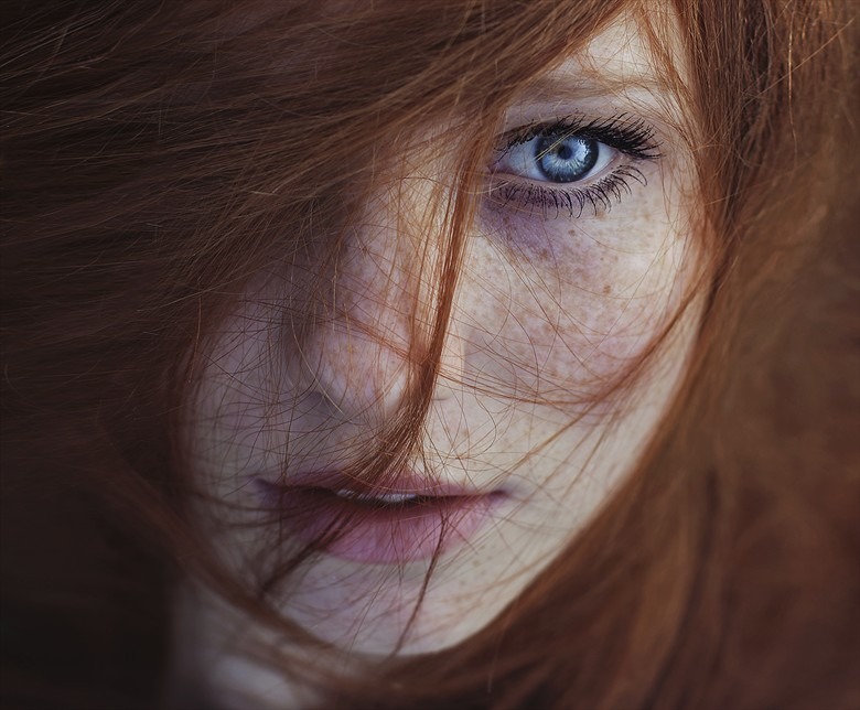 Freckles Close Up Photo by Photographer Maja Topcagic