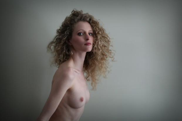 Fredau's Green Wall Artistic Nude Photo by Artist Sol Lang