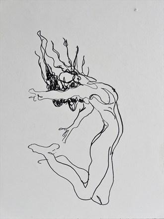 Free falling.. Artistic Nude Artwork by Artist Mattman