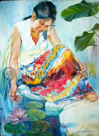 Freshness  Painting or Drawing Artwork by Artist Nuwan Thenuwara