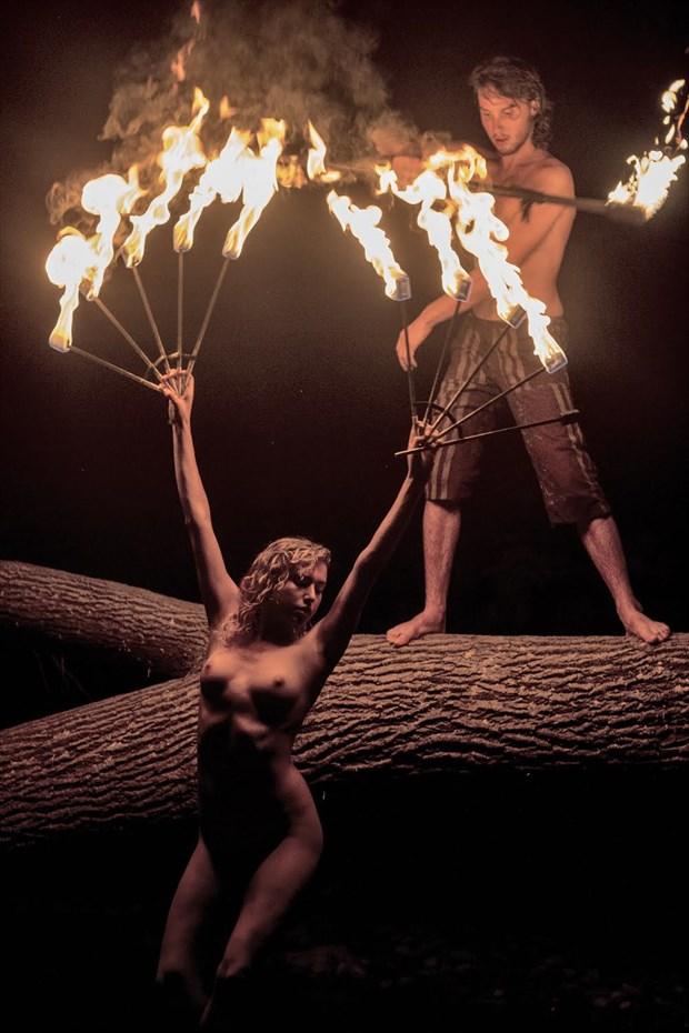From the Fire Within Artistic Nude Photo by Model Reece de la Tierra