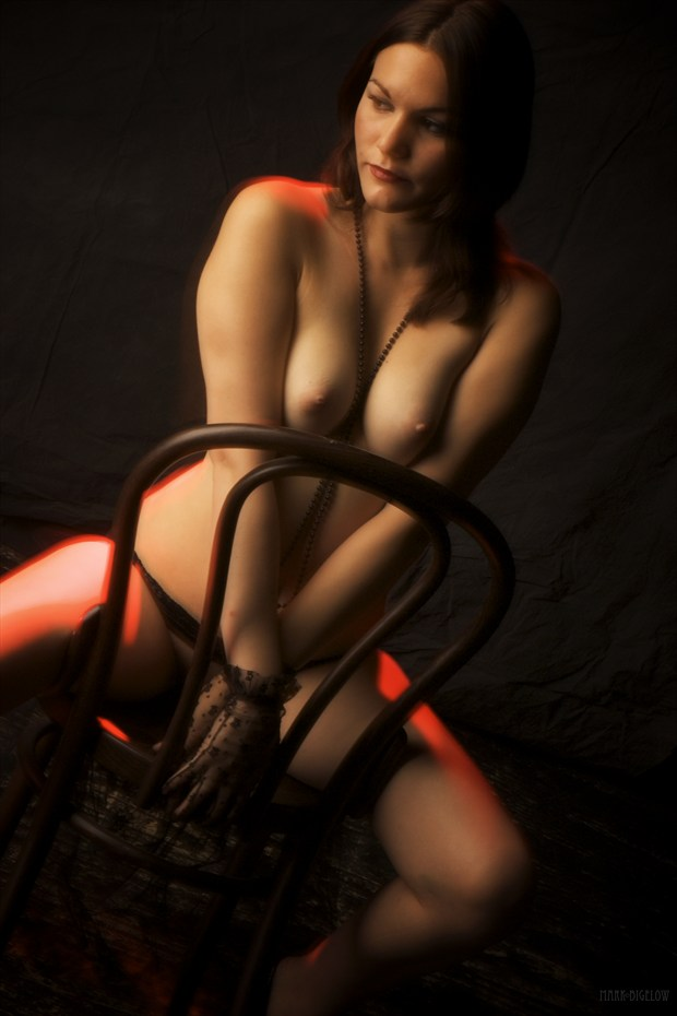 Fushcia's breif career as The Entertainer Lingerie Photo by Photographer Mark Bigelow