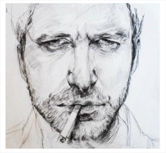 G.Butler Close Up Artwork by Artist Emanuelle