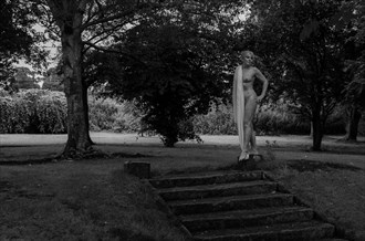 Garden Statue Artistic Nude Photo by Model Jana
