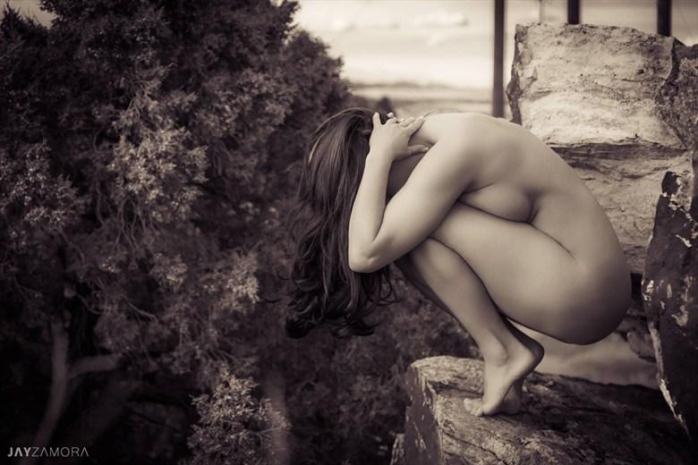 Gargoyle Artistic Nude Photo by Model Ceara Blu