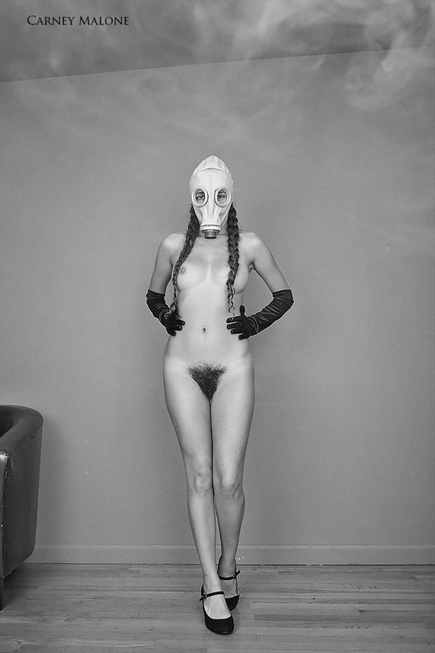 Gas Mask Artistic Nude Photo by Model Monique