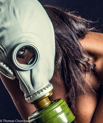 Gas mask troubles  Close Up Photo by Model Nyasia Sylvester