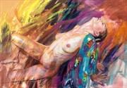 Genevieve 1 Artistic Nude Artwork by Artist Rod