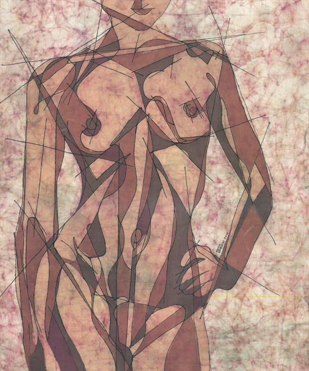 Geometry Problems Artistic Nude Artwork by Artist Kevin Houchin