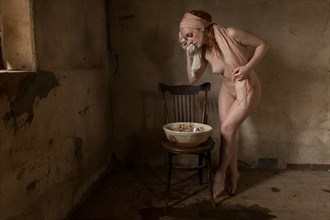 Girl Bathing Artistic Nude Photo by Photographer Stephen Wong