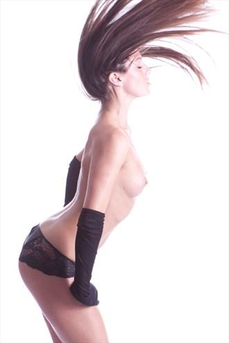 Girl flipping hair Artistic Nude Artwork by Photographer Jason kimmel
