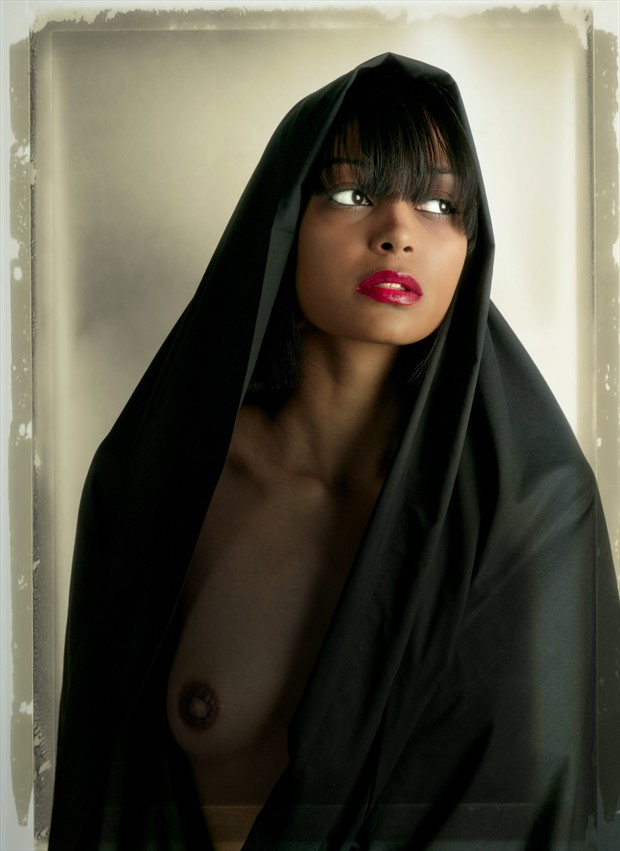 Girl with Black Veil Artistic Nude Photo by Photographer MaxOperandi