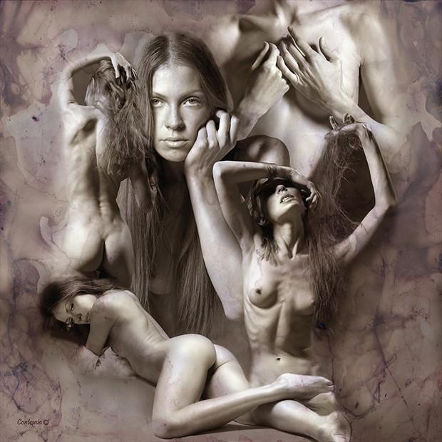 Giulia Composizione Artistic Nude Artwork by Artist Contesaia