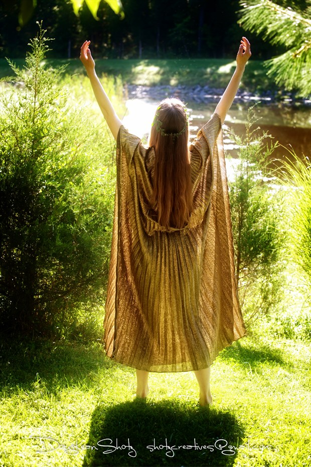 Goddess Welcoming the Sun Nature Photo by Model Satine Lynn