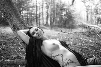 Goddess in Black & White 3 Artistic Nude Photo by Photographer CalidaVision