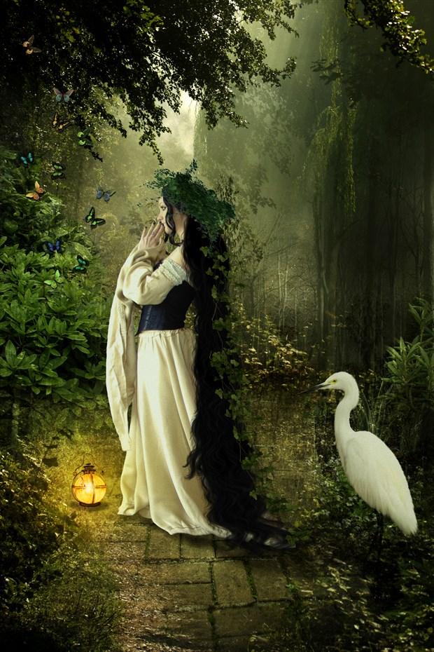 Goddess of the forest Fantasy Artwork by Artist KarinClaessonArt