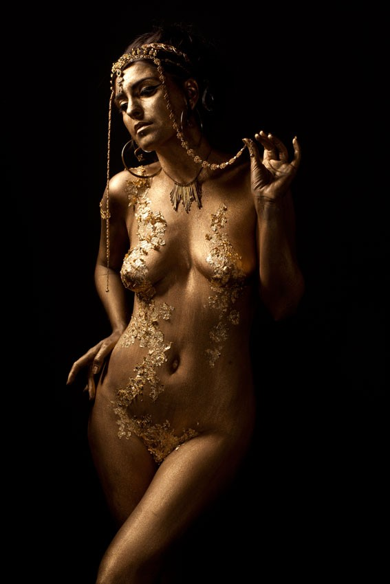 Gold Artistic Nude Photo by Photographer Scott Michaels