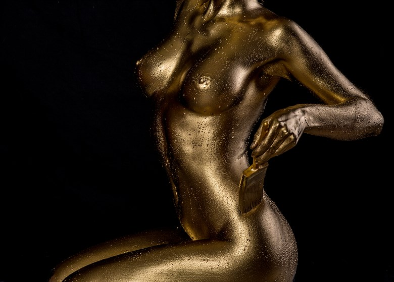 Gold Paint Artistic Nude Photo by Photographer Dan West
