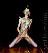 Gold n glass two. Artistic Nude Photo by Photographer ArtHeartunlimited