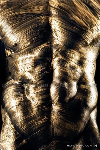 Golden Artistic Nude Photo by Photographer Marius Budu