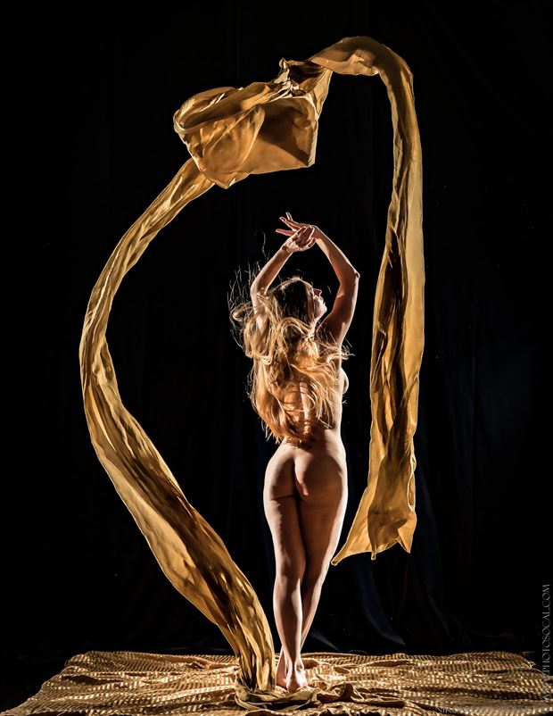 Golden Girl Artistic Nude Artwork by Model AnaEve Sabil