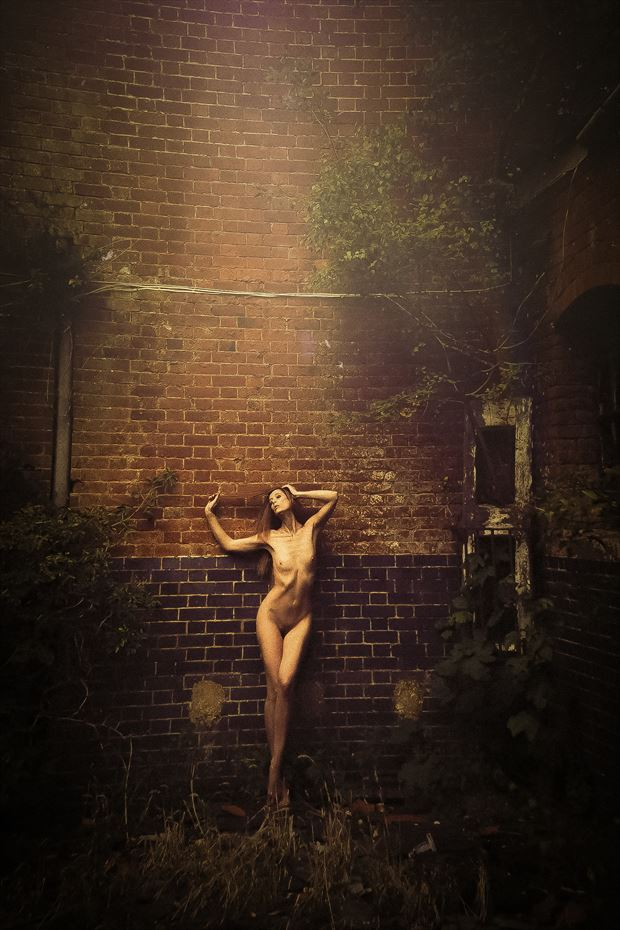 Golden Girl Artistic Nude Photo by Model Marmalade