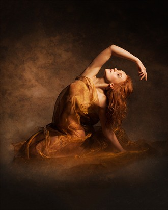 Golden Haze Artistic Nude Photo by Model Ivory Flame