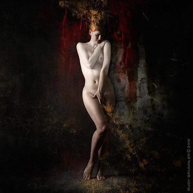 Golden Light Artistic Nude Photo by Photographer RudyBrunnler
