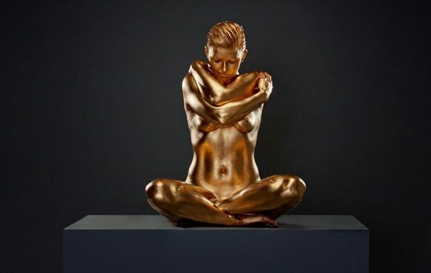 Golden Zen Artistic Nude Photo by Model Laura J Draycon