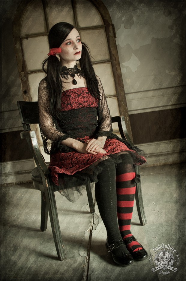 Gothic rag Doll Series   Dekilah Vintage Style Photo by Photographer SubQulture Studio