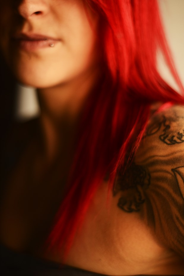 Graphic Detail: Portrait of Kate Warner Tattoos Photo by Photographer Mark Bigelow