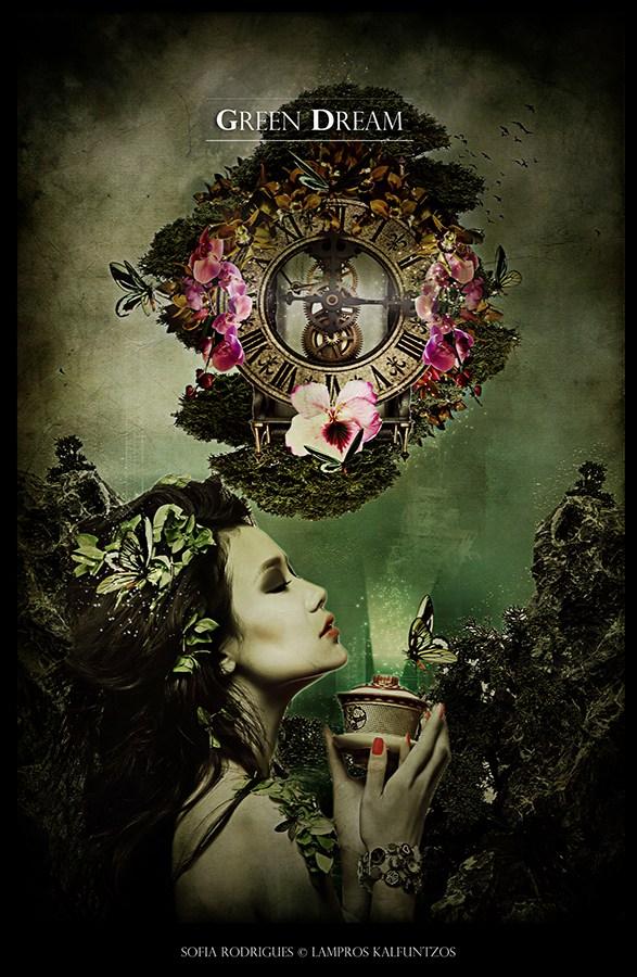 Green Dream Fantasy Artwork by Artist 3ddream
